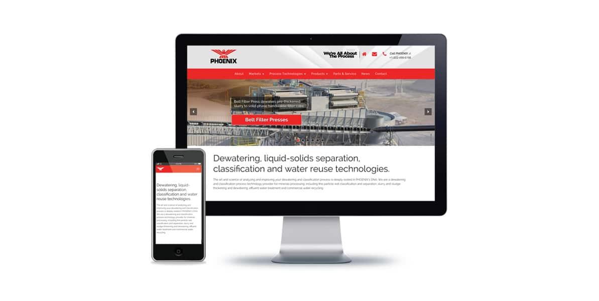 manufacturing website development
